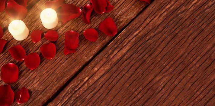 candles and petals