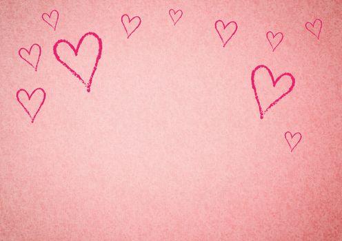 Conceptual image of hearts