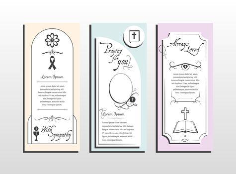 Lorem ipsum text on religious cards