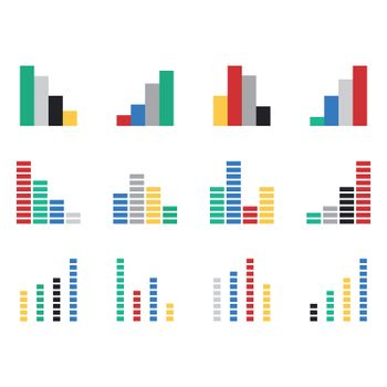 Vector icons for various graphs