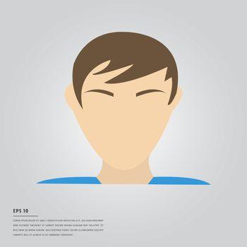 Lorem ipsum text and human face