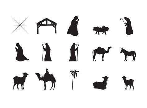 Symbols representing the birth of Jesus Christ