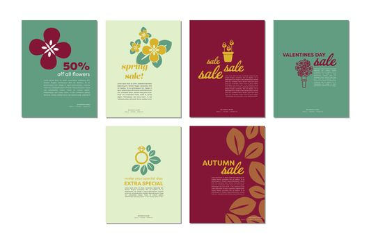 Various vector templates of sale and discounts