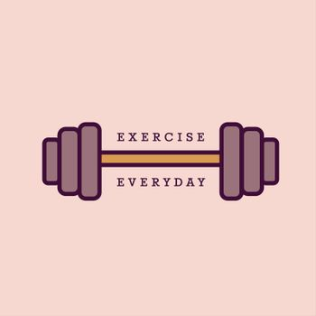 Vector image of barbell reading exercise everyday
