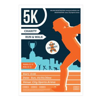 Run for charity vector image