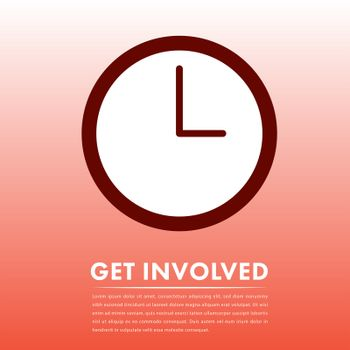 Vector image of call to action with text get involved