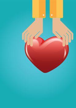 Vector icon of organ donation