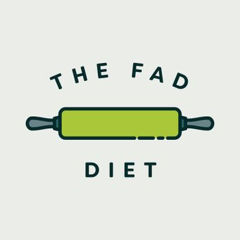 Vector image of rolling pin with text the fad diet