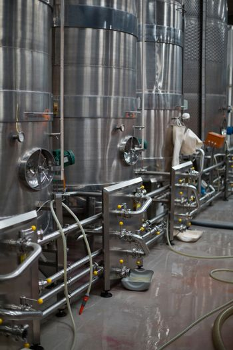 Storage tank in bottle factory