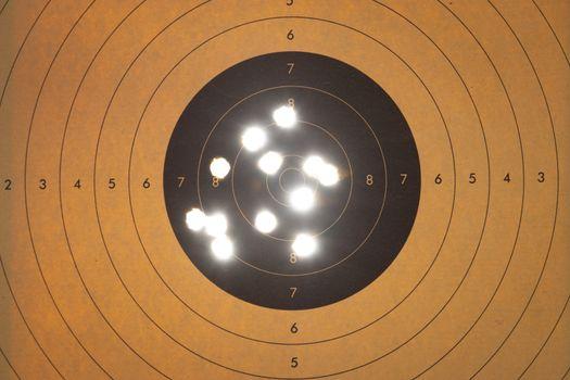 Close up of a shooting target