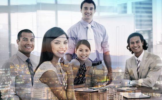 International business associates in a meeting