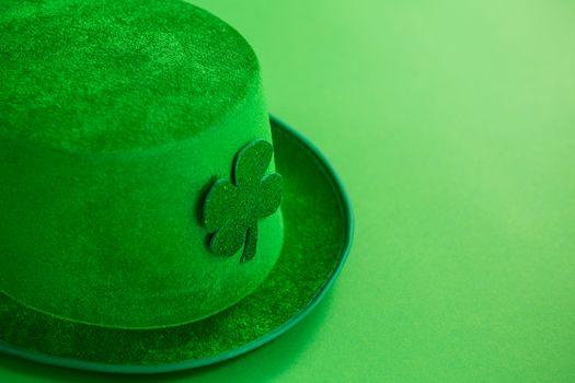 St Patricks Day leprechaun hat with shamrock