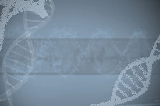 Panoramic view of dna pattern on screen