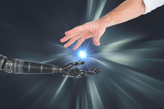 human and robot hand