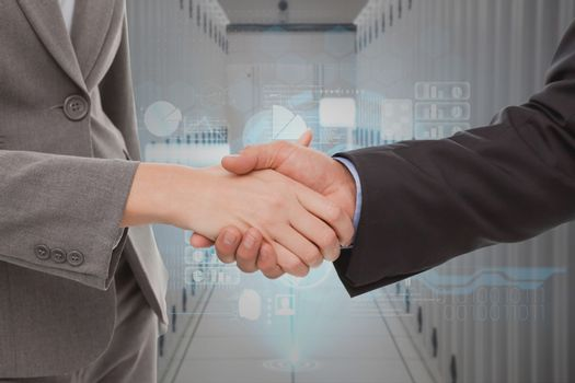 Digital composite of Handshake technology