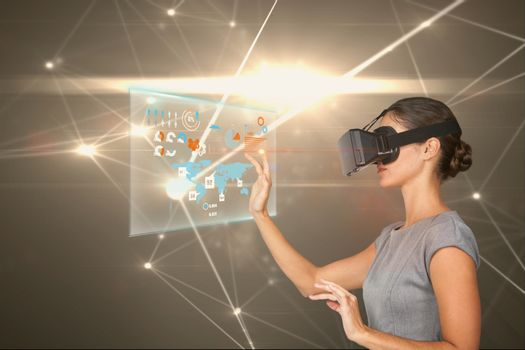 lady with VR headset