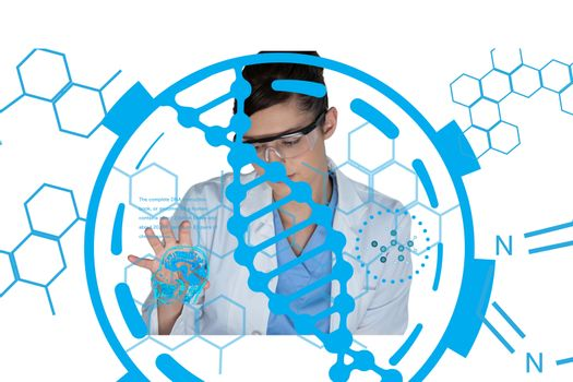 Medical models with DNA graphics or backgrounds 16