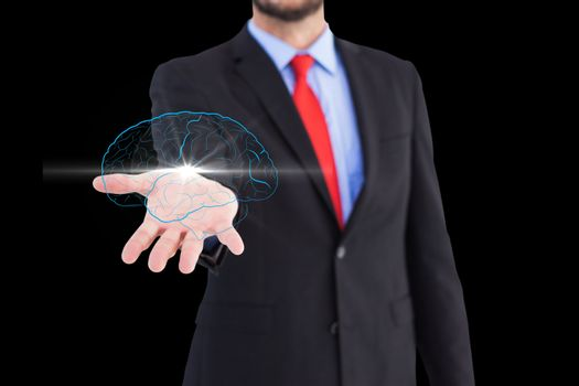 Brain on hands