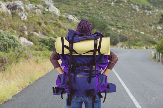 traveler on the road