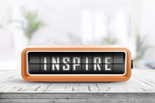 Inspire message on a retro alarm device