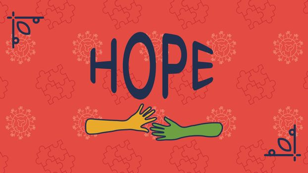 Greeting card with hope text