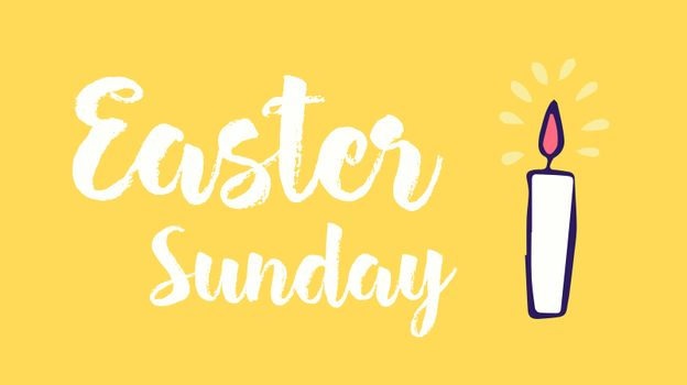Greeting card with easter sunday message
