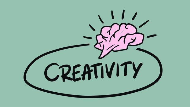 Vector icon of creativity