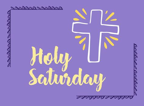 Greeting card with holy saturday message