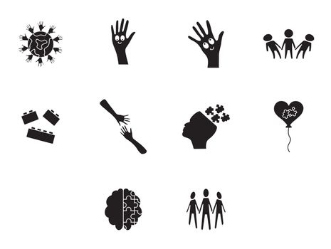 Vector icon set for awareness