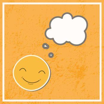 Card with thinking emoji