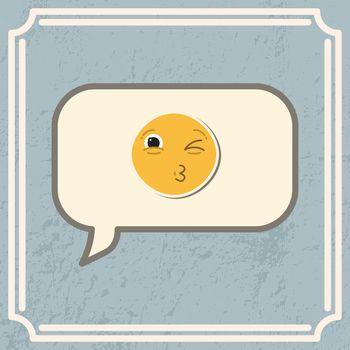 Card with kiss emoji