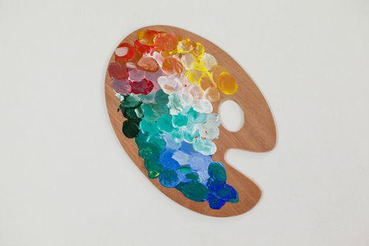Paint palette with multiple colors