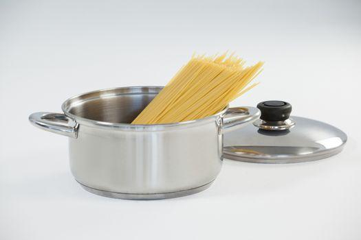 Spaghetti pasta in utensil