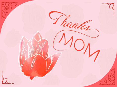 Vector of greeting card with mothers day message