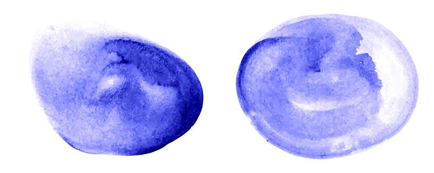 Vector set of painted circle spots