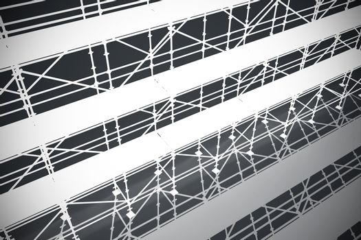 Composite image of 3d illustration of gray metal grate with shadow