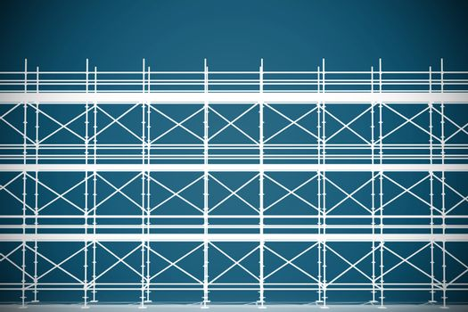 Composite image of 3d illustrative image of gray metal grate