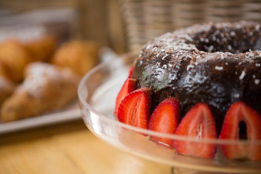 Bundt cake in coffee house