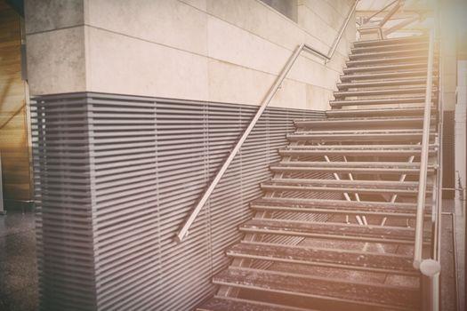 Metallic staircase