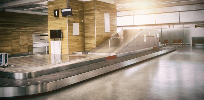 Empty baggage claim