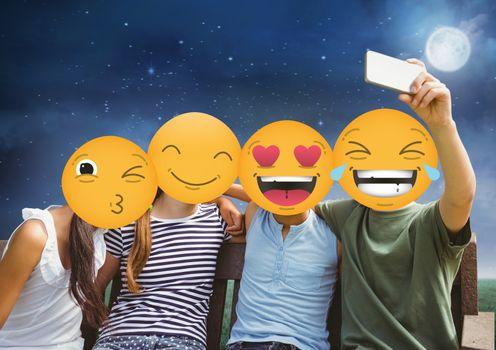 friends emoji face