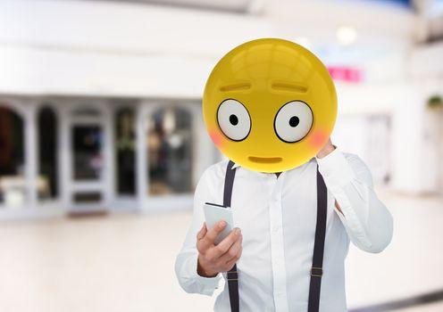 embarrassment . Emoji face.