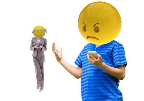 angry and laughing emoji