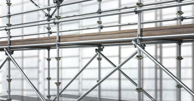 3D scaffolding in diagonal