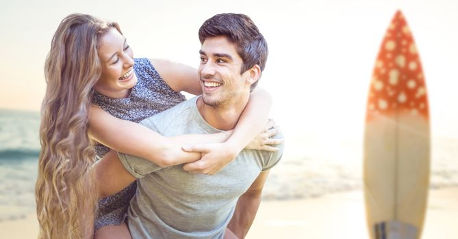 Couple in the beach, Surf