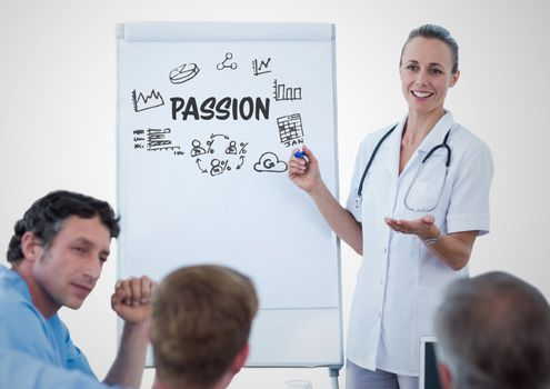 Passion graphic in a meeting
