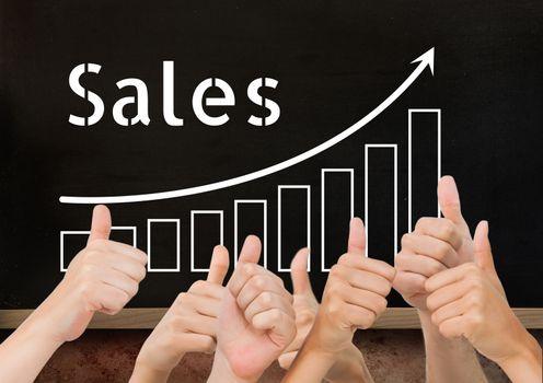 Thumbs up blackboard sales