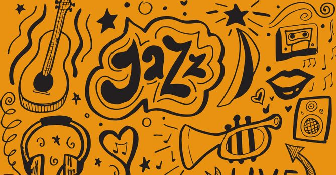 Composite image of jazz items