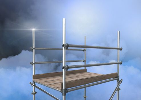 Mysterious clouds with 3D Scaffolding