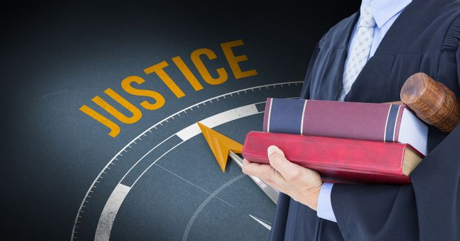 Composite image of justice